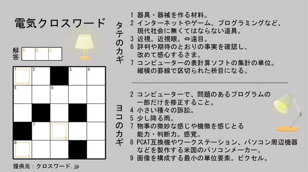 電気クロスワード